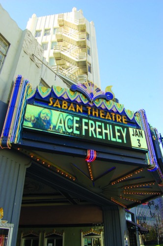 """City officials said owners of the Saban Theatre at 8440 Wilshire Blvd. """"have done a tremendous amount of work"""" to preserve the structure. (photo by Gregory Cornfield)"""