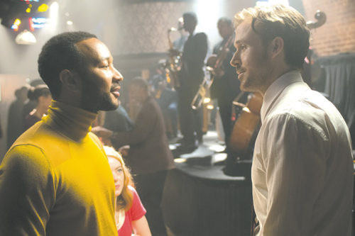 "John Legend (left) appears as Keith and Ryan Gosling stars as Sebastian in director Damien Chazelle's ""La La Land."" (photo by Dale Robinette, courtesy of Summit Entertainment)"