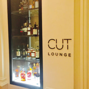 "CUT Lounge at the Four Seasons Beverly Hills is the chic bar where Sidebar used to be located. The cuisine is ""Wolfgang Puck"" at its finest with innovative cocktails to match. (photo by Jill Weinlein)"