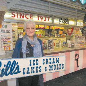 Jody Gill invited customers to stop by and enjoy the ice cream before the shop closes on Sunday. (photo by Edwin Folven)