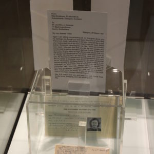 Rimalower-Nettler's postcards to her family during the Holocaust with text transcriptions are on display. (photo courtesy of the Los Angeles Museum of the Holocaust)