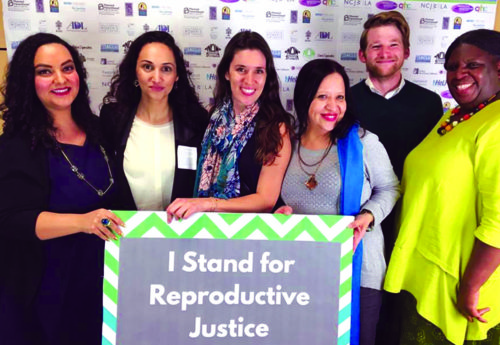 Above, L.A. reproductive justice leaders celebrate NCJWLA's Roe v. Wade anniversary event in 2016. (photo courtesy of NCJW/LA)