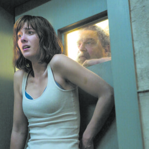 "Mary Elizabeth Winstead and John Goodman star in ""10 Cloverfield Lane,"" a film with a climax sure to surprise audiences. (photo courtesy Paramount Pictures)"