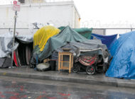 Finding shelter for the homeless during  the rainy season remains a challenge