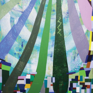 """""""Untitled 806,"""" an acrylic on canvas, is one of Frieden's works. (photo courtesy of Launch LA)"""