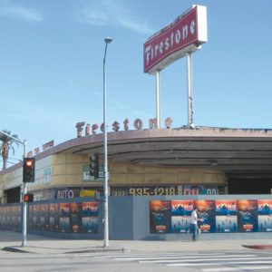 The city designated the former Firestone building as historic because of its exterior features, which are examples of Streamline Moderne architecture. (photo by Edwin Folven)