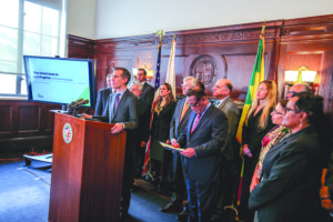City leaders last week championed a new study that shows the economic impact that immigrants have on the region. (photo courtesy of Mayor Eric Garcetti's office)