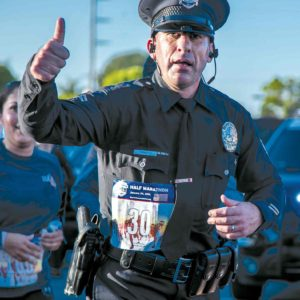 LAPD Olympic Division senior lead officer Joe Cirrito, an avid long-distance runner, will run in full uniform in the Run to Remember Los Angeles. (photo courtesy of Senior Lead Officer Joe Cirrito)
