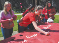 Immaculate Heart students wear red to celebrate International Women's Day