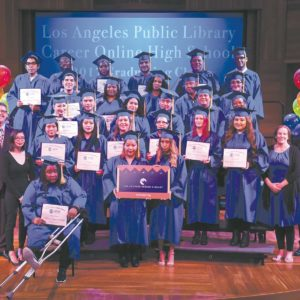 Adult Students Graduate From Librarys Online High School Park
