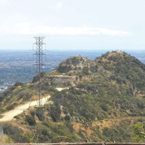 The land acquired for Runyon Canyon Park includes a trail and hilltop with views of the Los Angeles skyline. (photo courtesy of Don Andres)