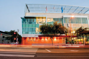 (photo by Jon Viscott) West Hollywood City Hall. The city's election is on March 7.