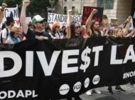 Protesters urge city hall to divest from Wells Fargo