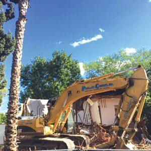 The units at 1332-1334 N. Formosa Ave. were demolished in January. (photo courtesy of Richard Koehler)