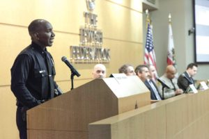 A panel of speakers representing the city and law enforcement addressed the ongoing threats to Jewish centers across the country. (photo courtesy of the Jewish Federation of Greater Los Angeles)