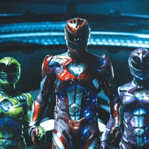 From left to right: Zack the Black Ranger (Ludi Lin), Trini the Yellow Ranger (Becky G), Jason the Red Ranger (Dacre Montgomery), Kimberly the Pink Ranger (Naomi Scott) and Billy the Blue Ranger (RJ Cyler) in Saban's Power Rangers. (photo courtesy of Lionsgate)