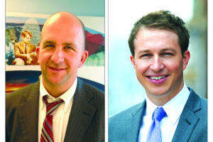 LAUSD board president Steve Zimmer, left, is in a runoff election in May against Nick Melvoin.