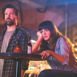 "Jason Sudeikis plays the role of Oscar and Anne Hathaway plays Gloria in ""Colossal."" (photo courtesy of Neon)"