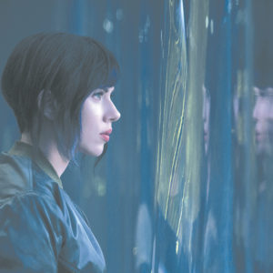 """Scarlett Johansson stars as Major in """"Ghost in the Shell,"""" a live-action adaptation of a 1995 anime classic. (photo courtesy of Paramount Pictures)"""