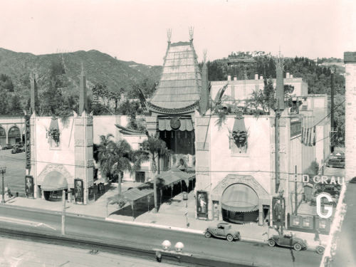 Grauman's Chinese Theatre opened in 1927. (courtesy of Bison Archives)
