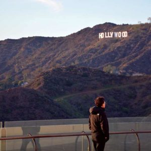Three local groups are challenging a ruling that closed an opening to a popular trail with access to some of the best views of the Hollywood Sign.  (photo by Patricia Sanchez)