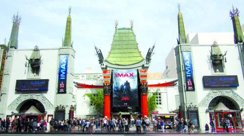 """After the theater installed IMAX, it gave new meaning to being on the """"big screen."""" (courtesy of the TCL Chinese Theatre)"""