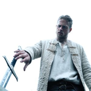 Charlie Hunnam plays King Arthur in this reimagining of a classic tale. (photo courtesy of Warner Bros. Pictures)