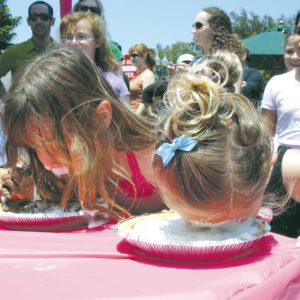 """Children and adults can participate in a pie-eating contest at the annual """"Pie Bake A'la Beverly Hills"""" and children's """"Piesta."""" (photo courtesy of the city of Beverly Hills)"""