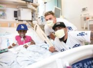Dodgers players brighten the day for young patients at Cedars-Sinai