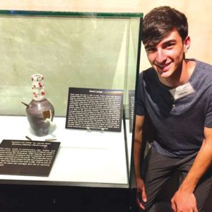 Jacob Adivi made a sculpture to represent the experiences of survivor David Lenga. (photo courtesy of the Los Angeles Museum of the Holocaust)