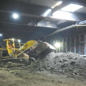 Excavation work is ongoing under Wilshire Boulevard near the Wilshire/La Brea subway station. (photo courtesy of Metro)