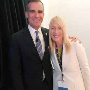 Los Angeles Mayor Eric Garcetti and Beverly Hills Mayor Lili Bosse represented Southern California. (photo courtesy of the city of Beverly Hills)