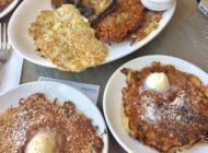 Breakfast by Salt's Cure Eating griddle cakes in WeHo
