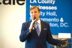City Controller Ron Galperin recently gave a presentation of the ControlPanel LA website to the L.A. County Business Federation. (photo courtesy of the Los Angeles City Controller's office)