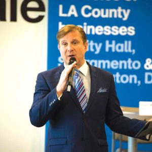 City Controller Ron Galperin recently gave a presentation of the ControlPanel LAwebsite to the L.A. County Business Federation. (photo courtesy of the Los Angeles City Controller's office)