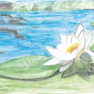"""One of the artists' works titled """"The Water Lily"""" is part of the exhibit. (photo courtesy of ALZGLA)"""