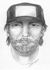 A sketch was released of the suspect. Police are asking for anyone with information to contact authorities. (photo courtesy of the LAPD)
