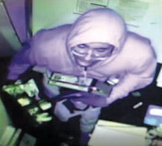 The burglary suspect was caught on video. (photo courtesy of the LASD)