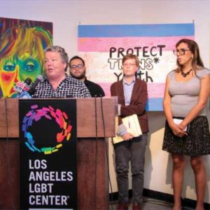Lorri L. Jean, CEO of the Los Angeles LBGT Center, was one of many local officials to denounce the president over tweets that said he will ban transgender military personnel.