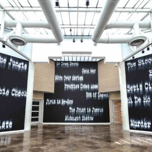 "The new installation by Gary Simmons, ""Fade to Black,"" opened last week at CAAM. (photo courtesy of CAAM)"