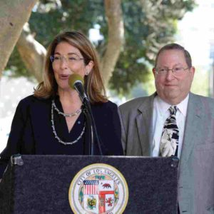Journalist and author Naomi Klein joined Councilman Paul Koretz, 5th District, to tackle climate change. (photo courtesy of the 5th District Council Office)