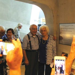 Sarah Moskovitz and her husband, Itzik Moskovitz, were on hand for the ceremony. (photo courtesy of the Los Angeles Museum of the Holocaust)