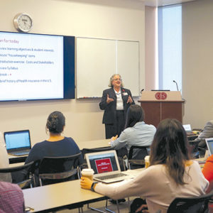 Course director Jeanne Black is teaching the inaugural class of the Master's in Health Delivery Science program at Cedars-Sinai Medical Center. (photo courtesy of Cedars-Sinai Medical Center)