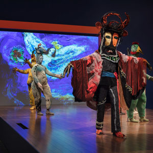 """""""Chagall: Fantasies for the Stage,"""" a new LACMAexhibit, highlights the principal role that music and dance played in Chagall's artistic practice. (Courtesy of LACMA)"""
