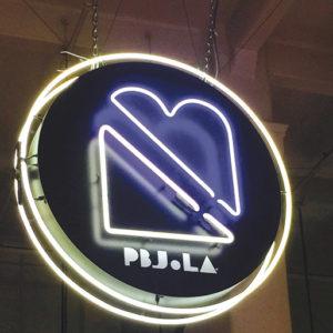 """PBJ.LA is """"not your average PB&J sandwich. (photo by Jill Weinlein)"""