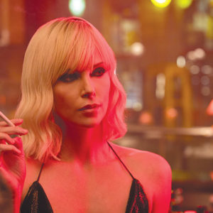 "Charlize Theron portrays a sultry secret agent in ""Atomic Blonde,"" a film set in 1980s Germany. (photo courtesy of Universal Pictures)"