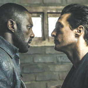 "Roland (Idris Elba) and Walter (Matthew McConaughey) are opponents in Columbia Pictures' ""The Dark Tower."" (photo by Ilze Kitshoff/© 2017 CTMG, Inc. /courtesy of Sony Pictures Entertainment)"