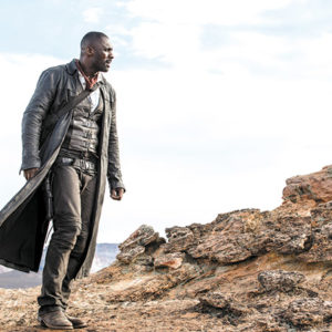 "Idris Elba gives a compelling performance in ""The Dark Tower,"" a film adapted from a story by Stephen King. (photo by Ilze Kitshoff/© 2017 CTMG, Inc./courtesy of Sony Pictures Entertainment)"