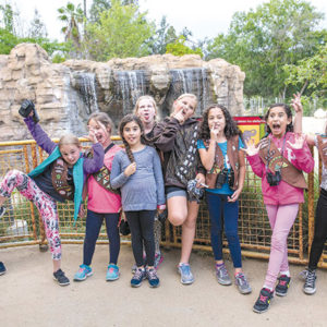 Girl Scouts earned a badge for attending the overnight experience at the Los Angeles Zoo, and by the looks of it, had a great time. (photo courtesy of the Los Angeles Zoo)