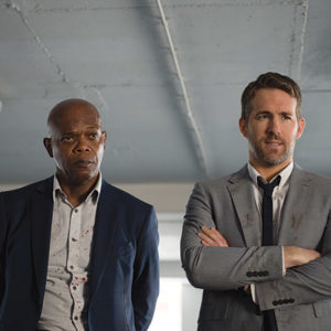 "Samuel L. Jackson stars as ""Darius Kincaid"" and Ryan Reynolds as ""Michael Bryce"" in ""The Hitman's Bodyguard."" (photo by Jack English)"